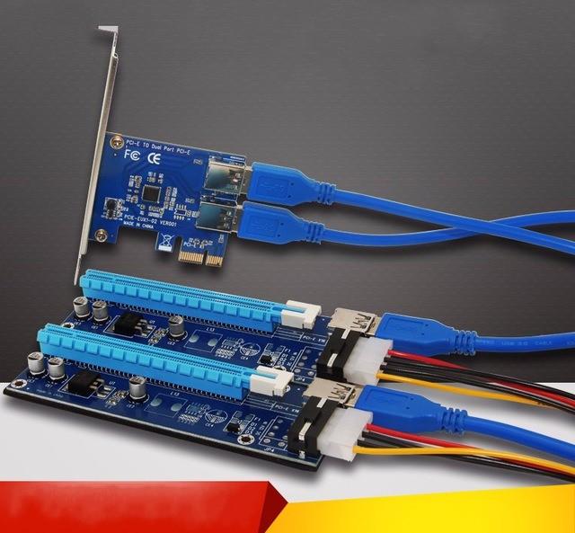 PCIe Expansion 2 way Riser